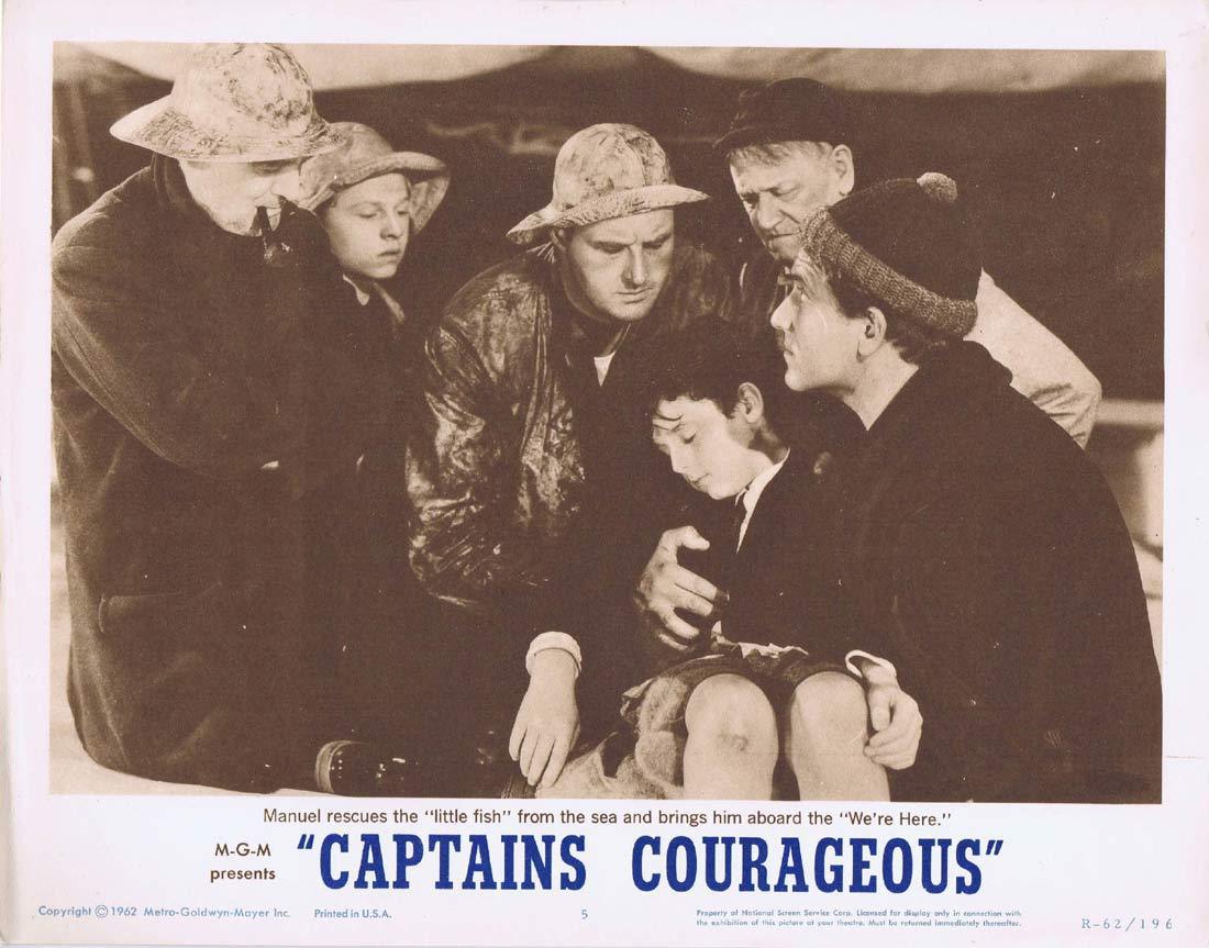 CAPTAINS COURAGEOUS Original 1962r Lobby Card 5 Freddie Bartholomew Spencer Tracy