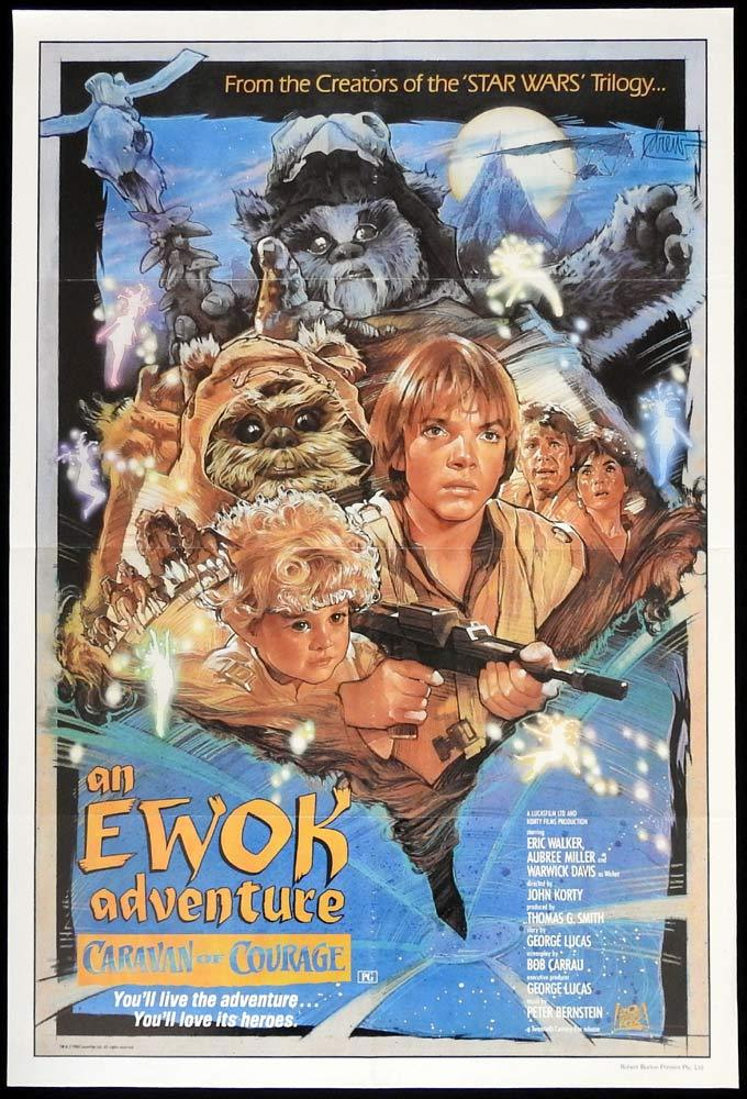 CARAVAN OF COURAGE Original One sheet Movie Poster EWOK ADVENTURE Star Wars