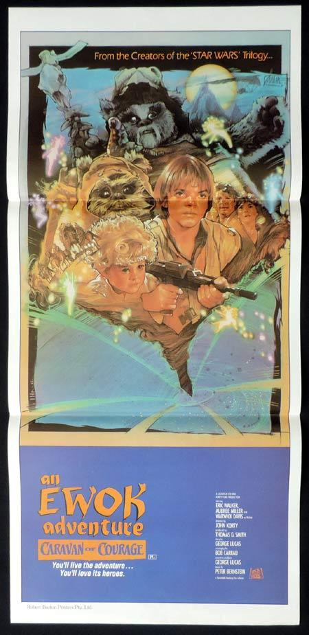 CARAVAN OF COURAGE Original Daybill Movie Poster EWOK ADVENTURE Star Wars