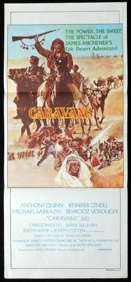 CARAVANS Original Daybill Movie Poster Anthony Quinn