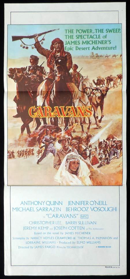 CARAVANS Original Daybill Movie Poster Anthony Quinn