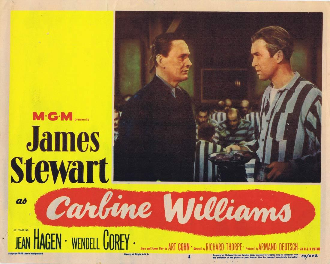 CARBINE WILLIAMS Original Lobby Card 3 James Stewart Wendell Corey