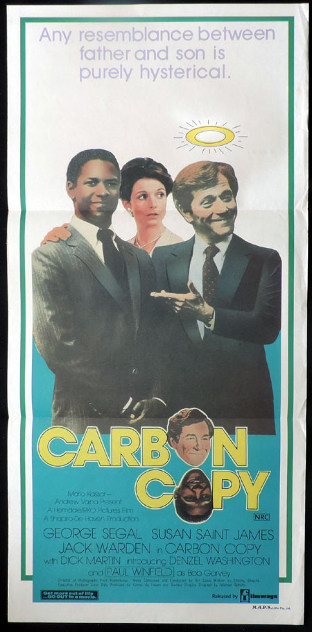 CARBON COPY Australian Daybill Movie Poster George Segal Denzel Washington