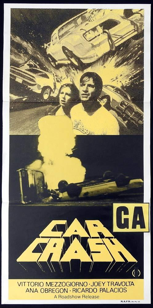 CAR CRASH Original Daybill Movie Poster Antonio Margheriti Joey Travolta
