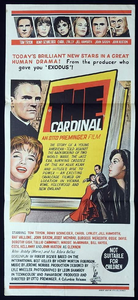 THE CARDINAL Original Daybill Movie Poster Otto Preminger Tom Tryon