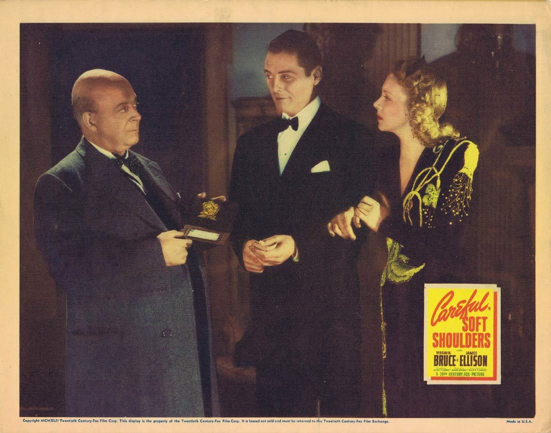 CAREFUL SOFT SHOULDERS Lobby Card 2 Virginia Bruce James Ellison Aubrey Mather
