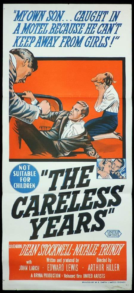 THE CARELESS YEARS Original Daybill Movie Poster Dean Stockwell Natalie Trundy