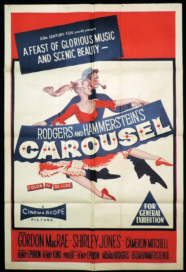 CAROUSEL One Sheet Movie Poster Gordon MacRae