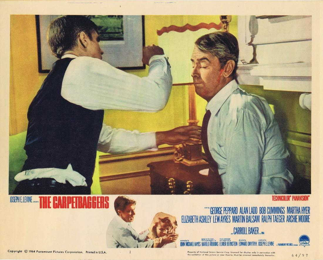 THE CARPETBAGGERS Lobby Card 1 George Peppard Alan Ladd Carroll Baker Robert Cummings