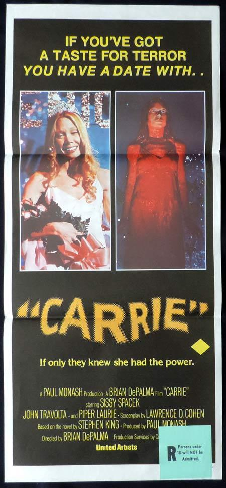 CARRIE Original Daybill Movie Poster John Travolta Sissy Spacek
