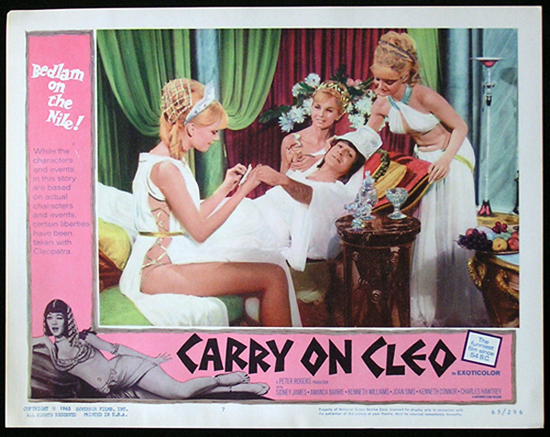 CARRY ON CLEO 1964 Sid James UK Comedy Lobby Card 7