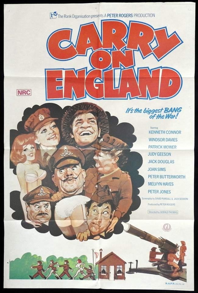 CARRY ON ENGLAND Original One sheet Movie Poster Kenneth Connor Windsor Davies Patrick Mower