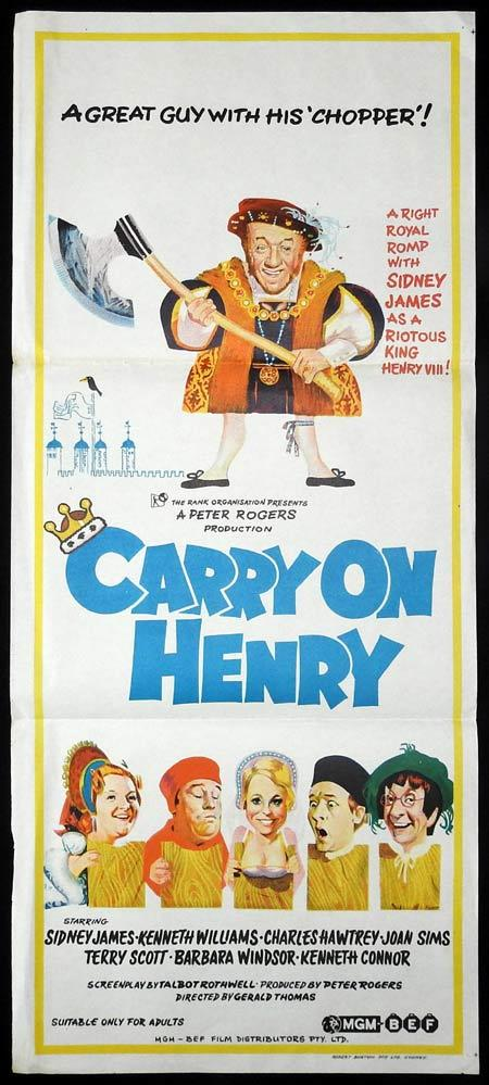 CARRY ON HENRY Original Daybill Movie poster Kenneth Williams Sid James