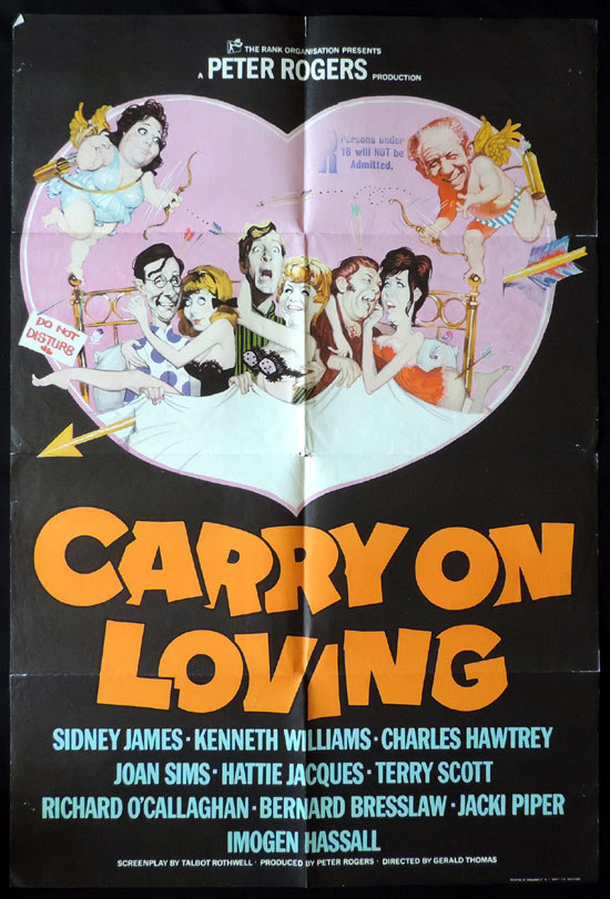 Carry On Loving, Gerald Thomas, Sid James Kenneth Williams Charles Hawtrey Joan Sims Hattie Jacques Terry Scott Richard O'Callaghan Bernard Bresslaw Jacki Piper Imogen Hassall