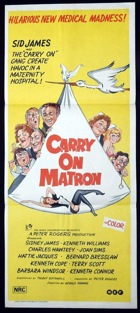Carry On Matron, Gerald Thomas, Sid James Kenneth Williams Charles Hawtrey Joan Sims Hattie Jacques Bernard Bresslaw Kenneth Cope Terry Scott Barbara Windsor Kenneth Connor Jack Douglas