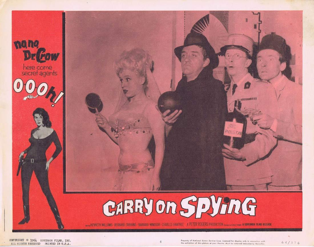 Carry On Spying, Barbara Windsor, Kenneth Williams, Charles Hawtrey, Jim Dale, Bernard Cribbins