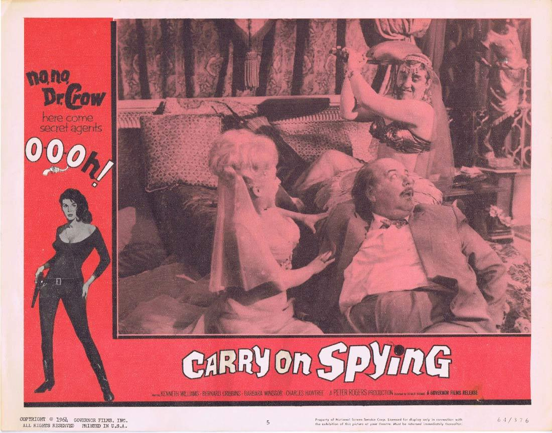 CARRY ON SPYING Lobby Card 5 Barbara Windsor Kenneth Williams Charles Hawtrey