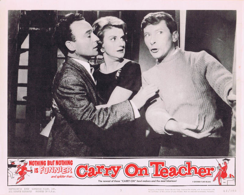 CARRY ON TEACHER Lobby Card 3 Kenneth Connor
