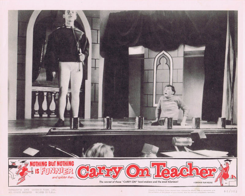CARRY ON TEACHER Lobby Card 4 Kenneth Connor