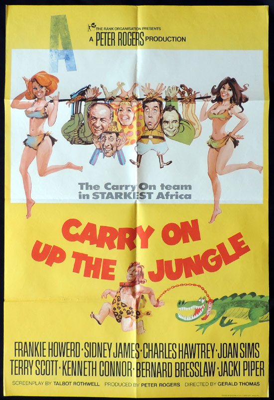 CARRY ON UP THE JUNGLE Sid James English One sheet Movie poster