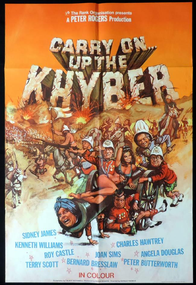 CARRY ON UP THE KHYBER British One Sheet Movie Poster Kenneth Williams Sid James
