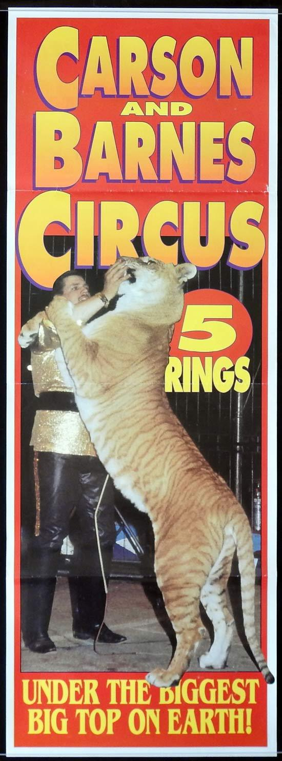 CARSON AND BARNES CIRCUS Original Poster 5 RINGS Big Top