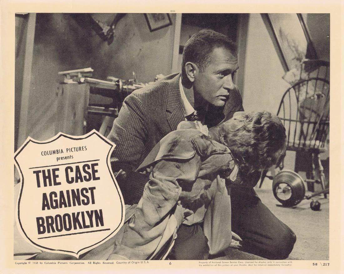 THE CASE AGAINST BROOKLYN Lobby Card 6 Darren McGavin Crooked Cops
