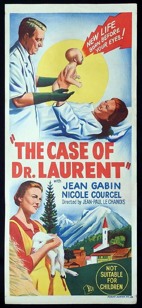 THE CASE OF DR LAURENT Original Daybill Movie Poster Jean Gabin