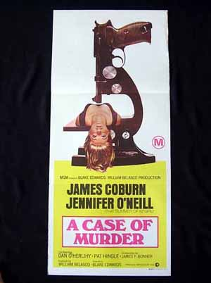A CASE OF MURDER James Coburn RARE Daybill Movie poster