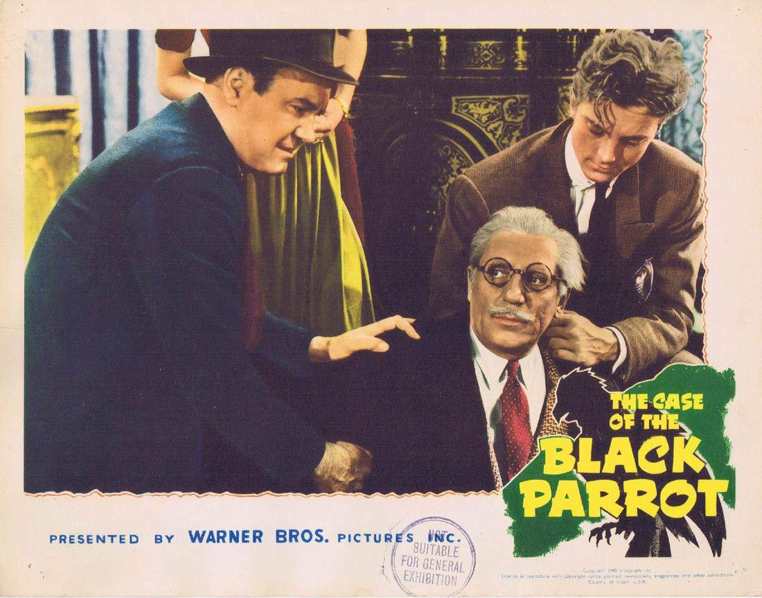 THE CASE OF THE BLACK PARROT Lobby Card 2 Lundigan Maris Wrixon Eddie Foy Jr