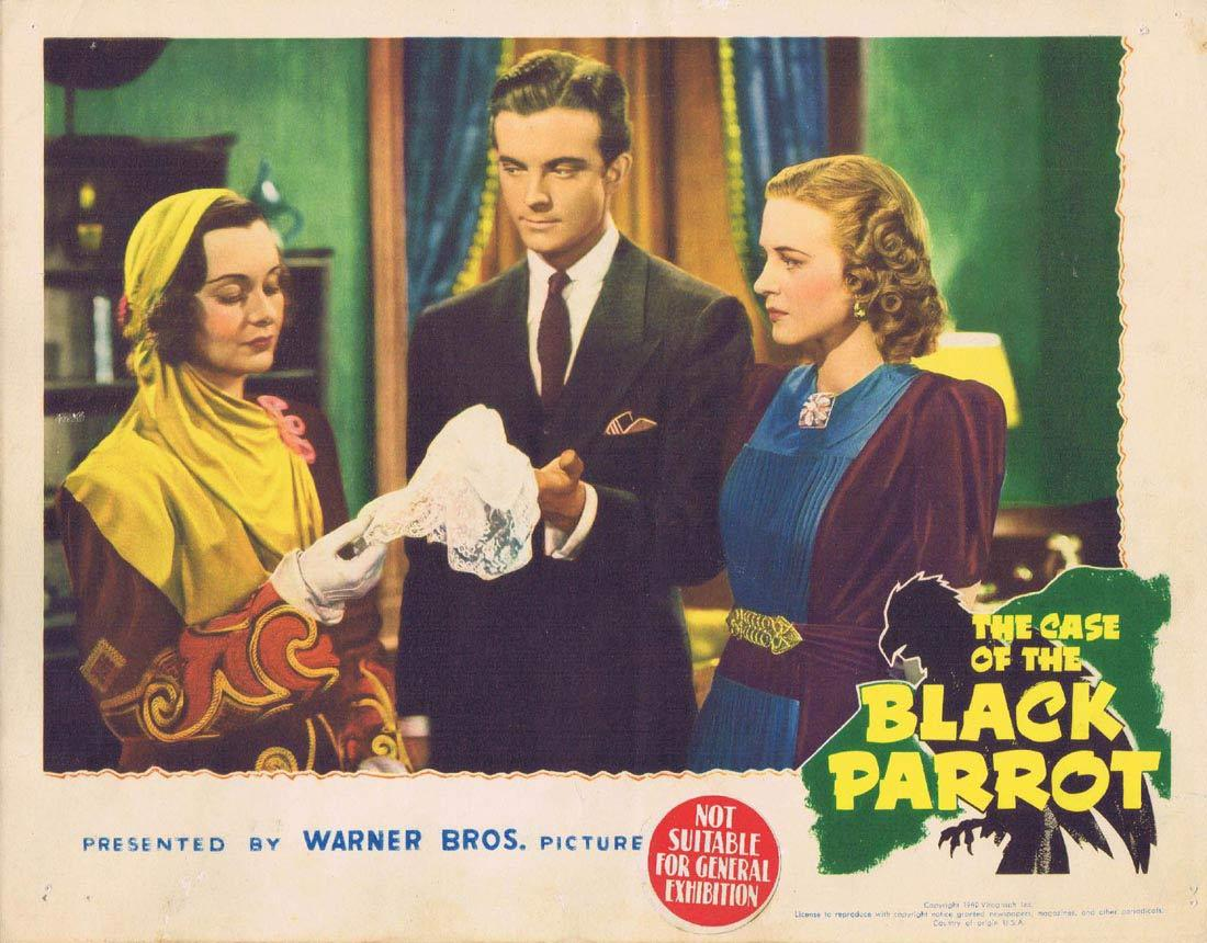 THE CASE OF THE BLACK PARROT Lobby Card 3 Lundigan Maris Wrixon Eddie Foy Jr