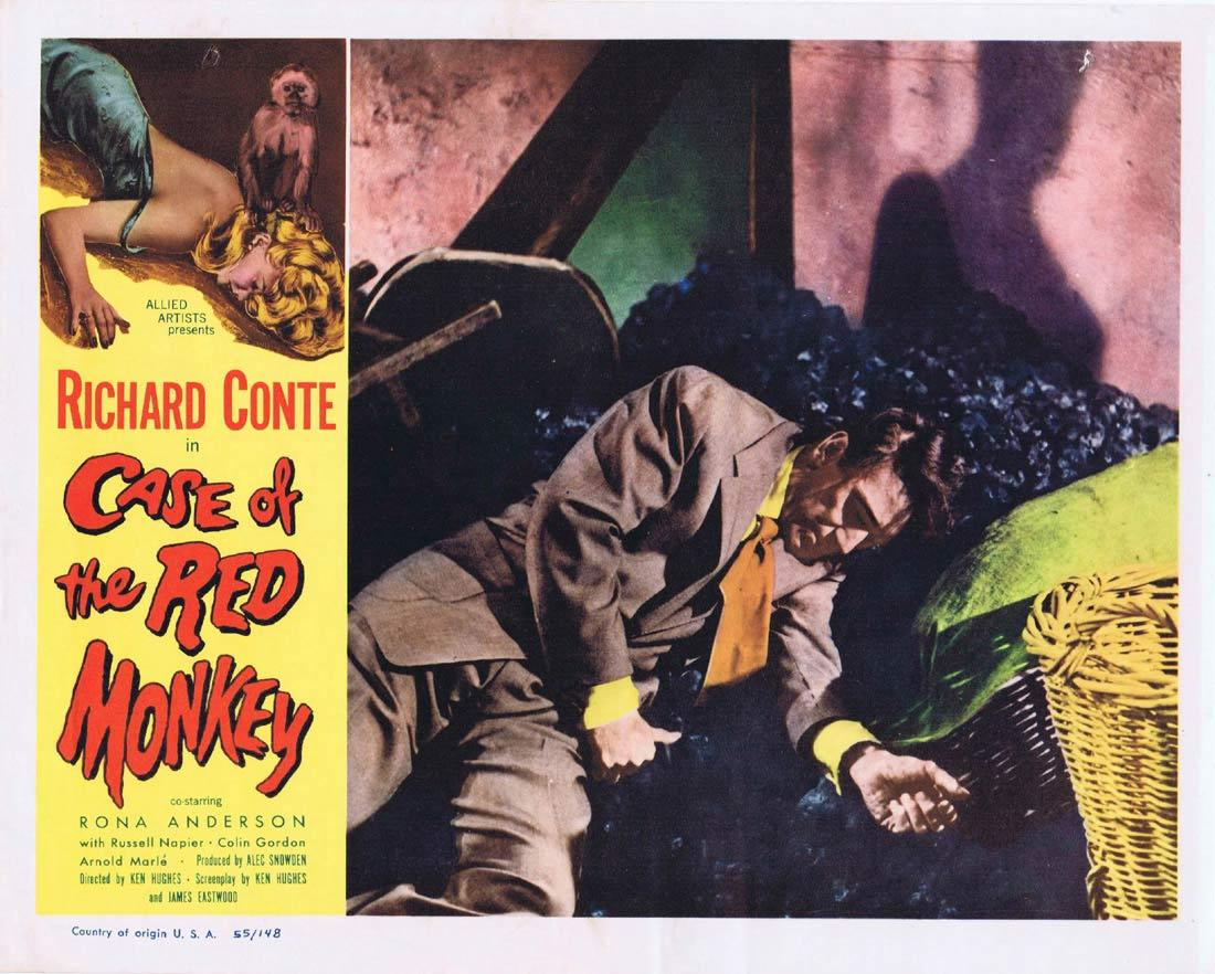 CASE OF THE RED MONKEY Lobby Card 7 Richard Conte Rona Anderson Russell Napier