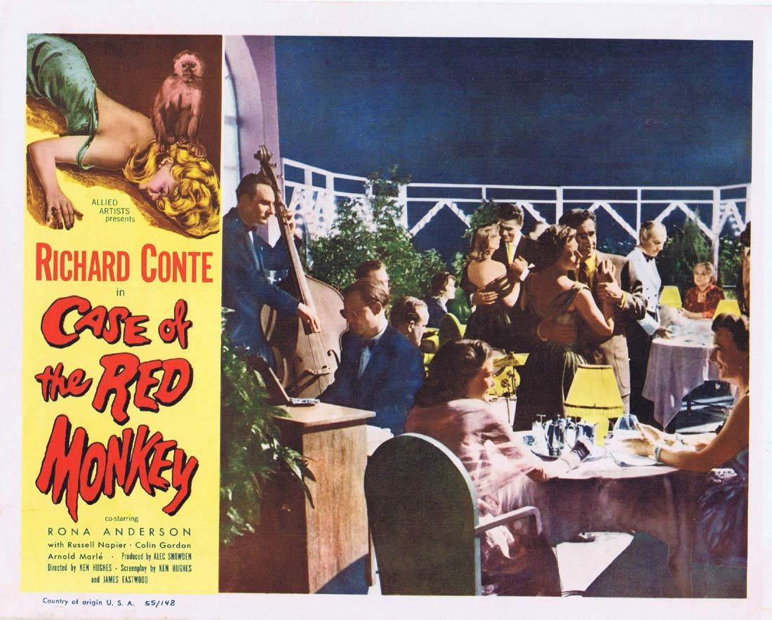 CASE OF THE RED MONKEY Lobby Card 8 Richard Conte Rona Anderson Russell Napier