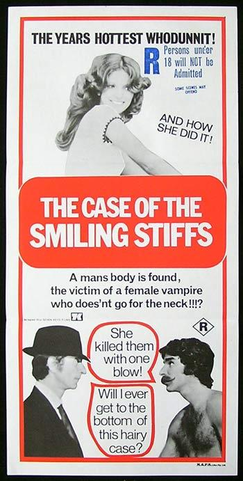 CASE OF THE SMILING STIFFS Original Daybill Movie poster Harry Reems