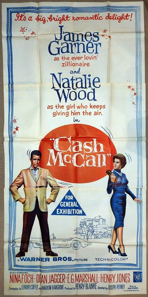 CASH McCALL Original 3 Sheet Movie Poster Natalie Wood James Garner