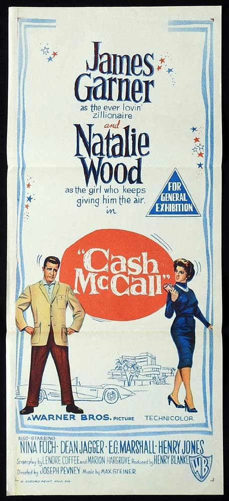 CASH McCALL Original Daybill Movie Poster Ralph Fiennes Juliette Binoche