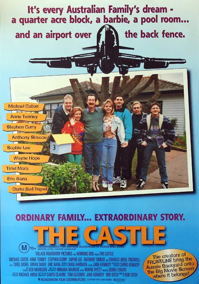 THE CASTLE Original One sheet Movie poster Michael Caton Eric Bana Charles Tingwell