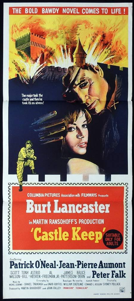 CASTLE KEEP Original daybill Movie Poster Burt Lancaster Bruce Dern Patrick O'Neal