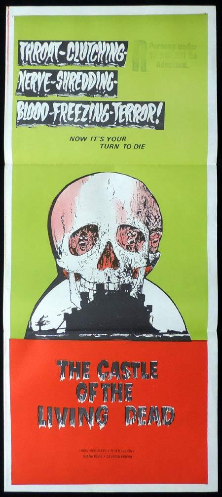 CASTLE OF THE LIVING DEAD Original daybill Movie Poster NOTHING BUT THE NIGHT