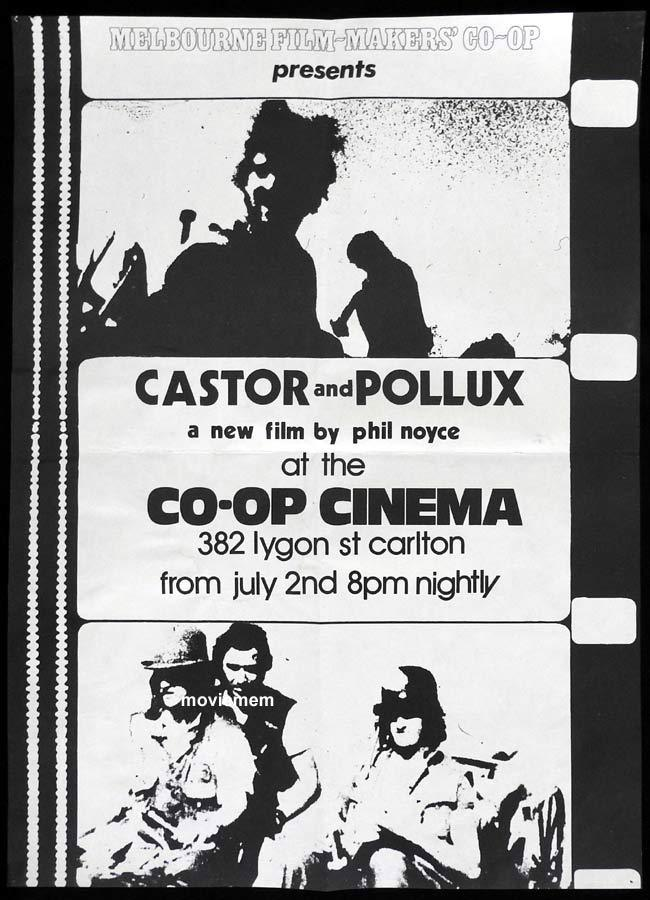 CASTOR AND POLLUX One sheet Movie poster Phillip Noyce