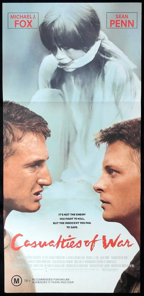 CASUALTIES OF WAR Daybill Movie Poster MICHAEL J.FOX Sean Penn