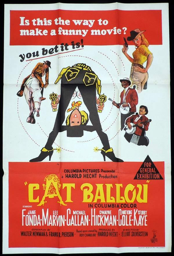 CAT BALLOU One Sheet Movie Poster Jane Fonda Lee Marvin