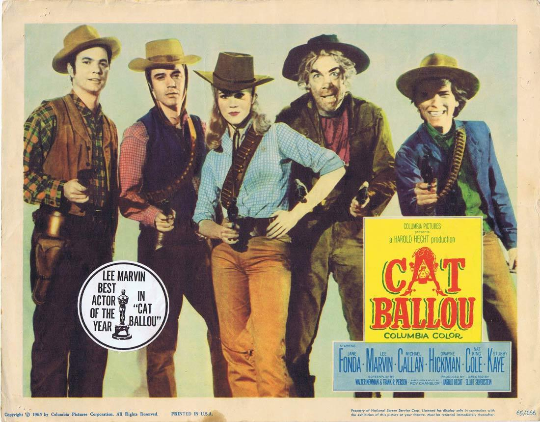 CAT BALLOU Original Lobby Card Jane Fonda Lee Marvin