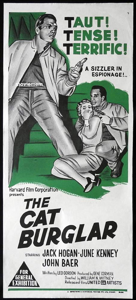 THE CAT BURGLAR Original Daybill Movie Poster Film Noir Jack Hogan