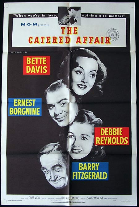 THE CATERED AFFAIR Original US One sheet movie poster Bette Davis 1956