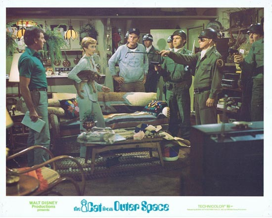CAT FROM OUTER SPACE 1978 Disney Sci Fi Lobby Card 3