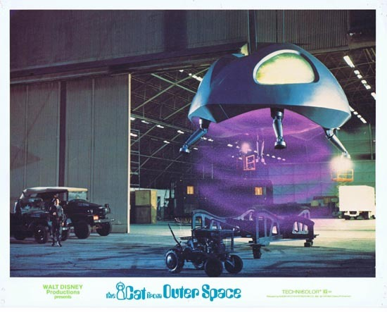 CAT FROM OUTER SPACE 1978 Disney Sci Fi Lobby Card 7