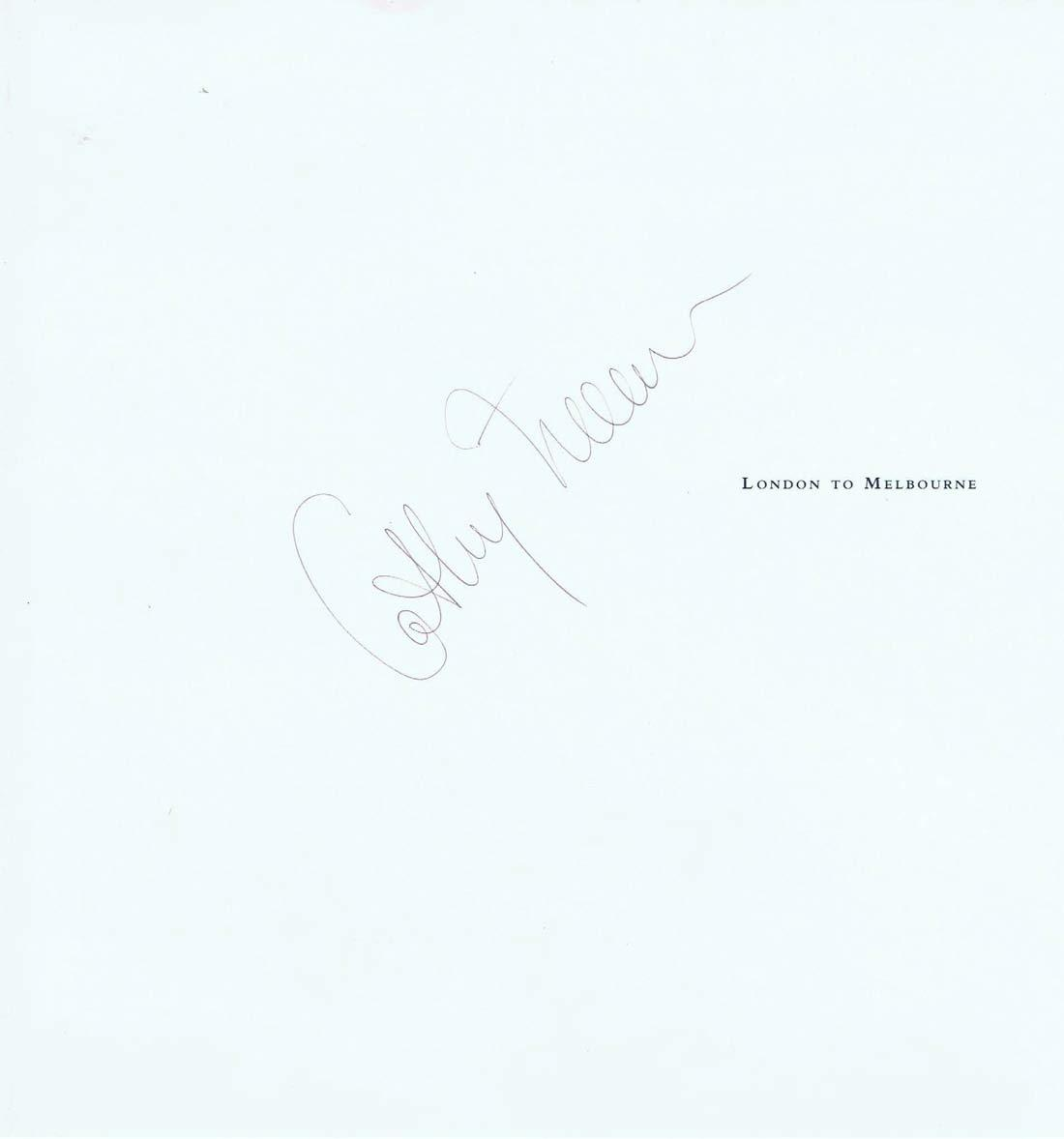 CATHY FREEMAN, Autograph, Qantas Menu, Olympic