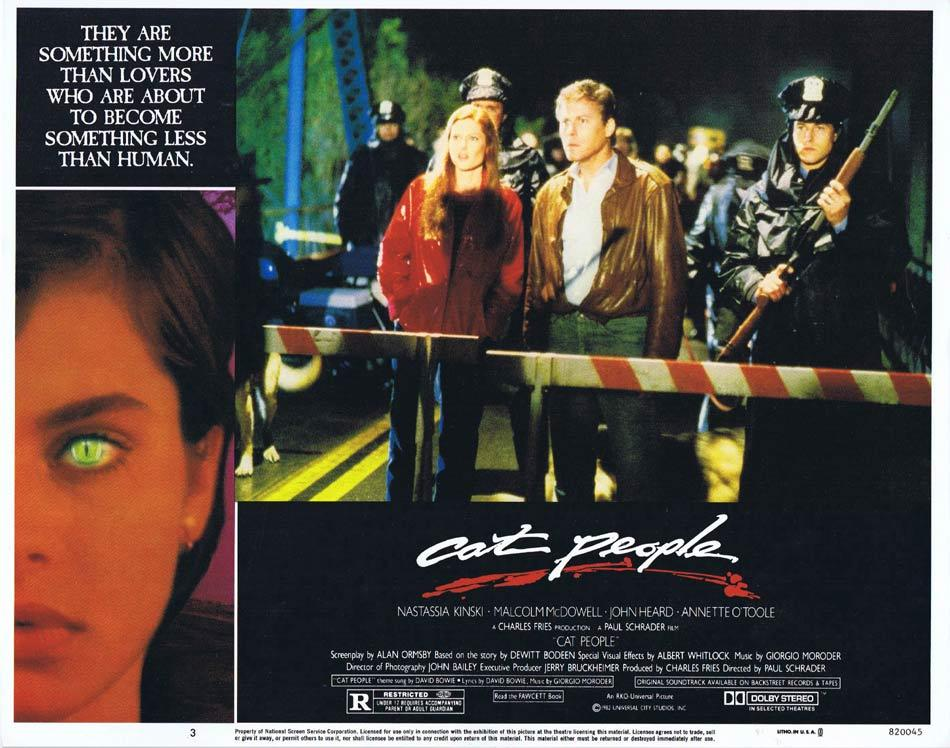 CAT PEOPLE Lobby Card 3 Nastassja Kinski Malcolm McDowell.