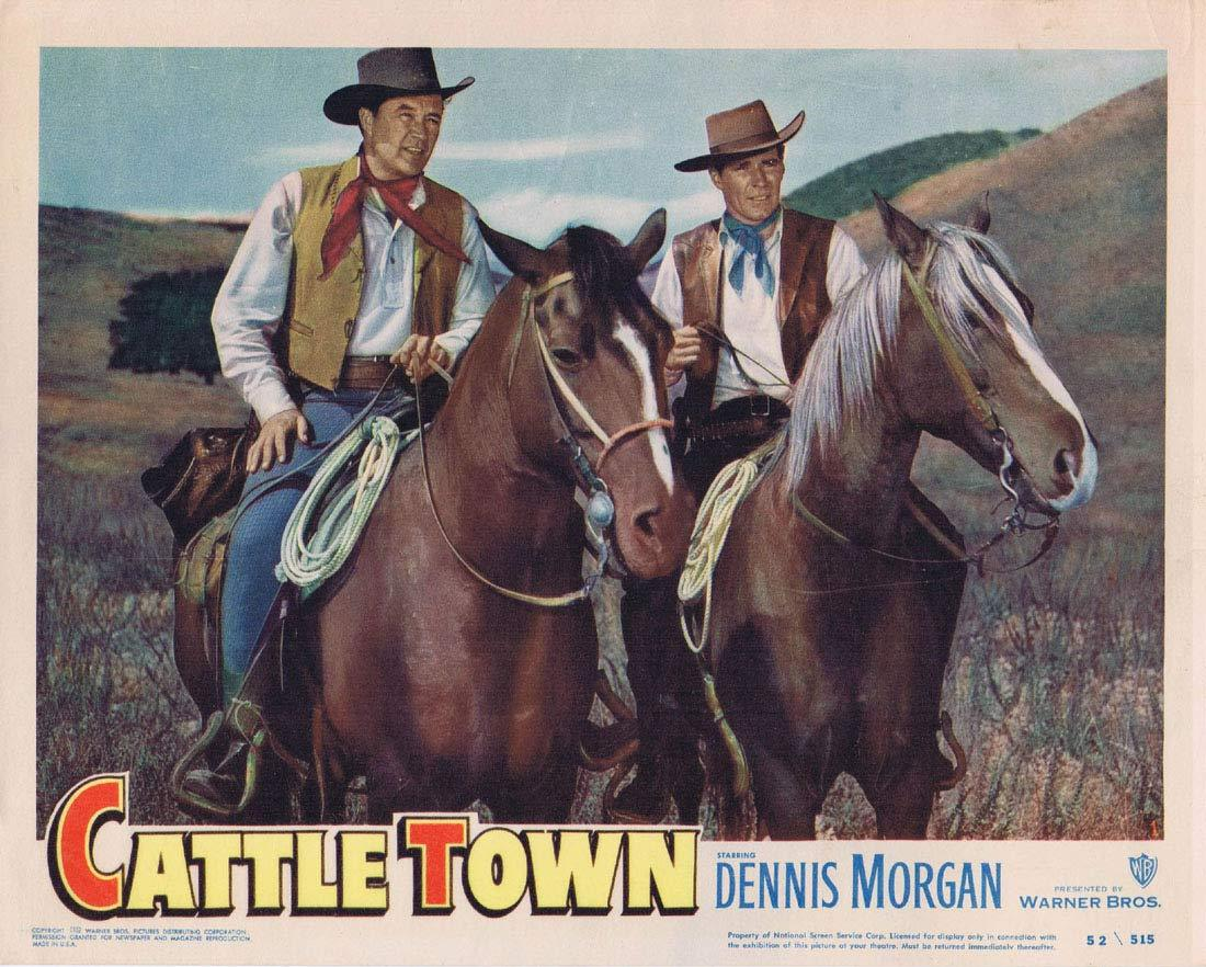 CATTLE TOWN Original Lobby Card 1 Dennis Morgan Philip Carey Amanda Blake